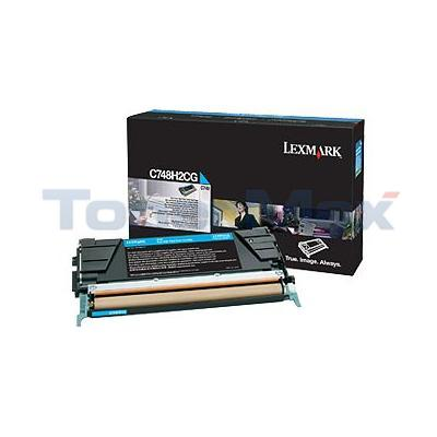 LEXMARK C748 TONER CARTRIDGE CYAN HY